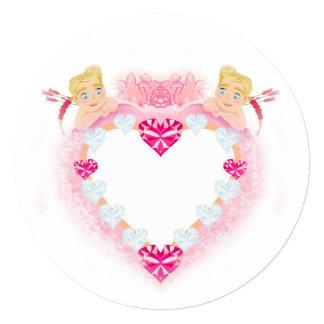 molde com convite dos Cupido Convite Quadrado 13.35 X 13.35cm