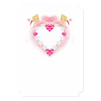 molde com convite dos Cupido Convite 12.7 X 17.78cm