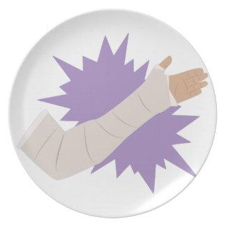 Molde do braço prato de festa