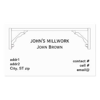 Molde do cornice da parte do Millwork multi Cartão De Visita