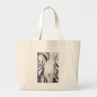Molde humano original expressionism abstrato bolsas de lona