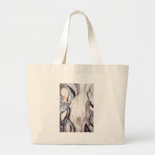 Molde humano original (expressionism abstrato) bolsas de lona