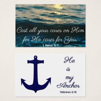 Molde seu cartão da oração das ondas dos cuidados