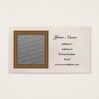 Molde seu cartão de visita da foto