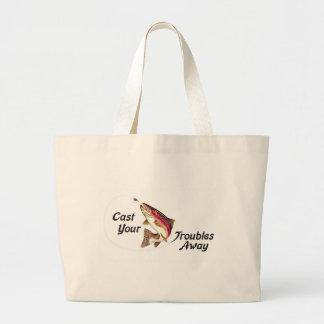 Molde seus problemas ausentes bolsa tote grande
