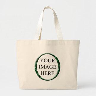 Molde verde de mármore do quadro do círculo bolsas para compras