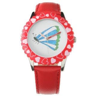 Moldura de Florença com o relógio vermelho dos