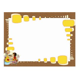 """Moldura para foto """"Mãe e filha"""" Cartão Postal"""