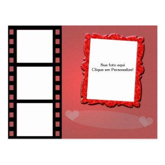 """Moldura para foto """"Romance de cinema"""" Cartões Postais"""
