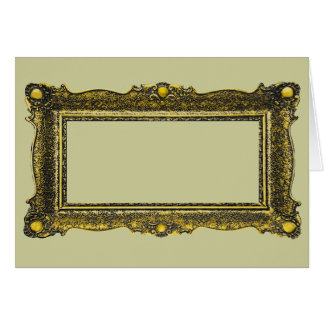 Moldura para retrato antiga do ouro cartões