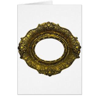 Moldura para retrato antiga do ouro cartoes