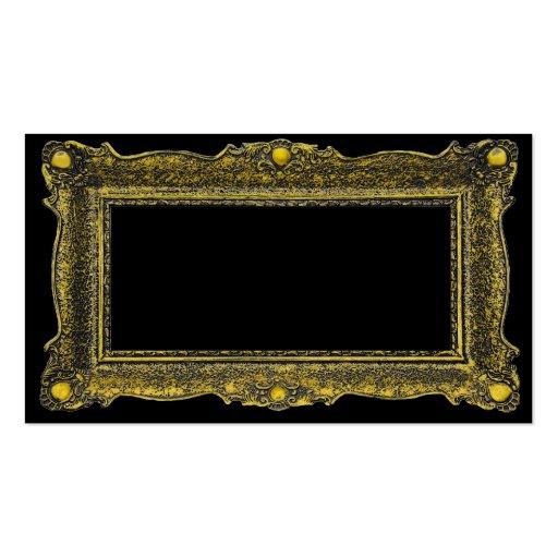 Moldura para retrato antiga do ouro modelo cartao de visita