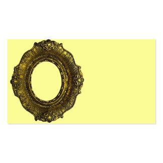 Moldura para retrato antiga do ouro modelos cartões de visita