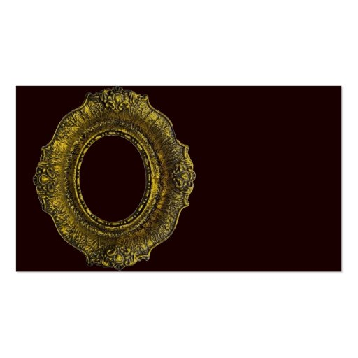 Moldura para retrato antiga do ouro cartoes de visitas