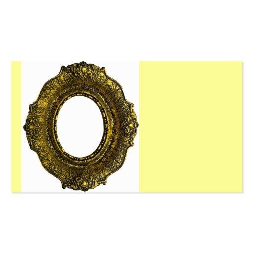 Moldura para retrato antiga do ouro modelos cartao de visita