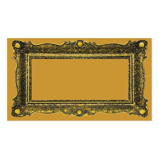 Moldura para retrato antiga do ouro cartões de visita