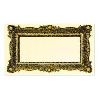 Moldura para retrato antiga do ouro cartão de visita