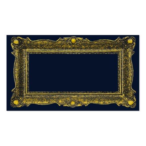 Moldura para retrato antiga do ouro modelo cartões de visitas