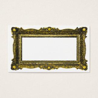 Moldura para retrato antiga do ouro cartão de visitas