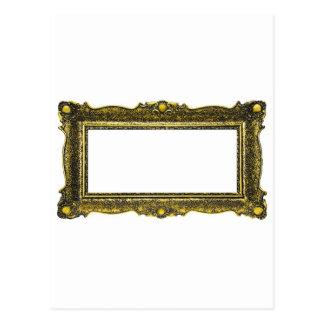 Moldura para retrato antiga do ouro cartão postal