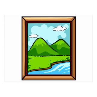 Moldura para retrato cartão postal