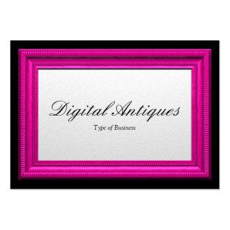 Moldura para retrato cor-de-rosa cartão de visita grande