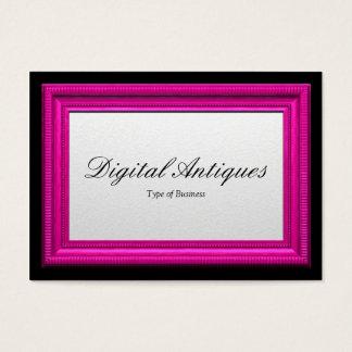 Moldura para retrato cor-de-rosa cartão de visitas