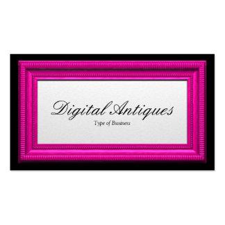 Moldura para retrato cor-de-rosa dos doces cartão de visita