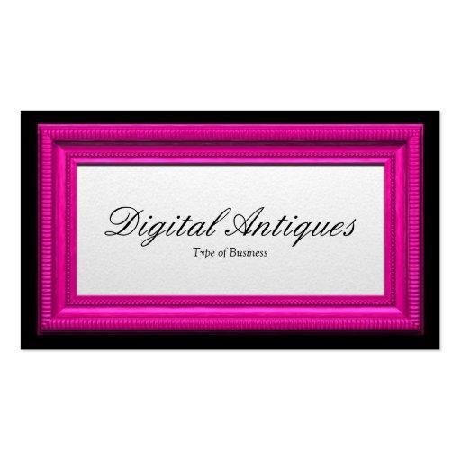 Moldura para retrato cor-de-rosa dos doces modelo cartoes de visitas