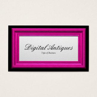 Moldura para retrato cor-de-rosa dos doces cartão de visitas