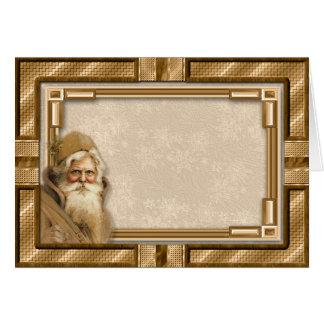 Moldura para retrato de Papai Noel do Victorian Cartão Comemorativo