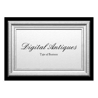 Moldura para retrato de prata cartões de visitas