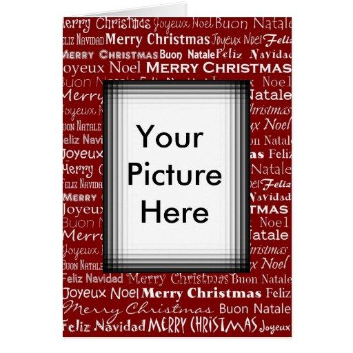 Moldura para retrato do cartão de Natal