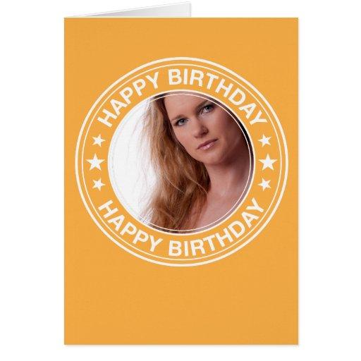 Moldura para retrato do feliz aniversario no amare cartao