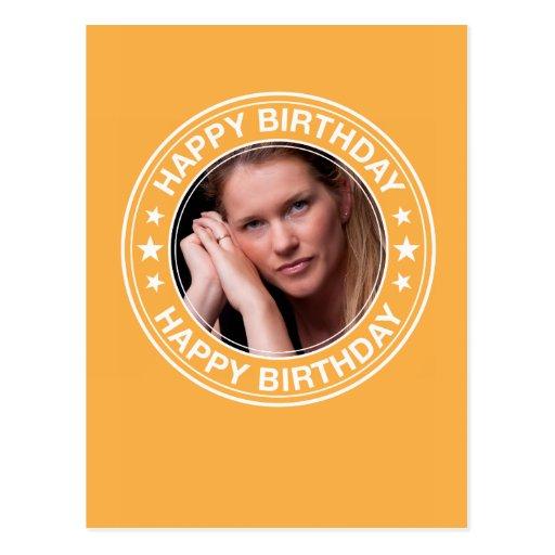 Moldura para retrato do feliz aniversario no amare cartao postal