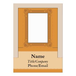 Moldura para retrato do monitor do computador modelos cartões de visita