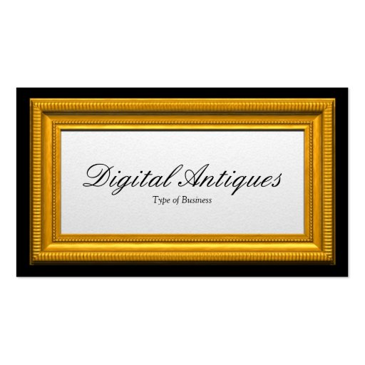 Moldura para retrato do ouro cartões de visitas