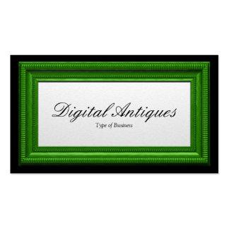 Moldura para retrato do verde de grama cartão de visita