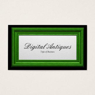 Moldura para retrato do verde de grama cartão de visitas