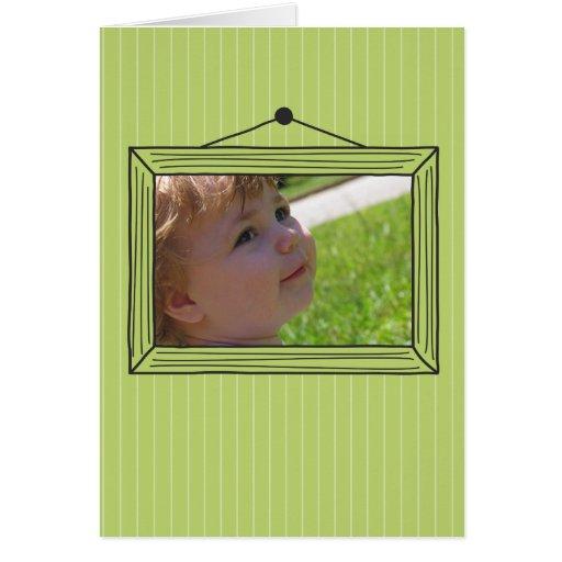 Moldura para retrato handdrawn retangular cartões
