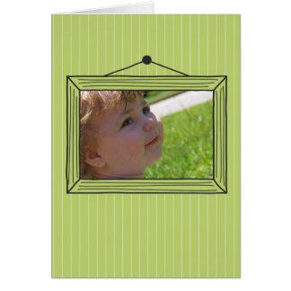 Moldura para retrato handdrawn retangular cartão de nota