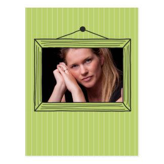 Moldura para retrato handdrawn retangular cartão postal