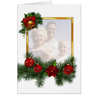 Moldura para retrato Ornamented do Natal Cartão De Nota