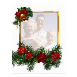 Moldura para retrato Ornamented do Natal Cartão Postal