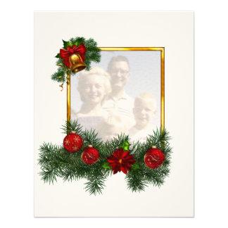 Moldura para retrato Ornamented do Natal Convites