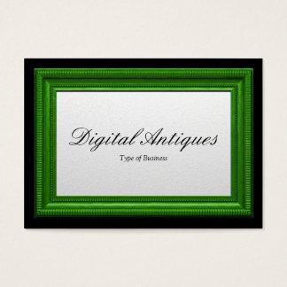 Moldura para retrato verde cartão de visitas