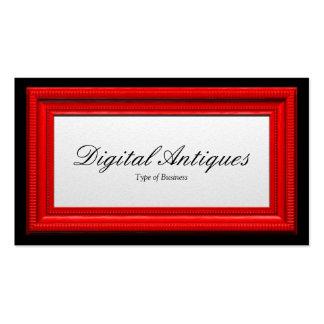 Moldura para retrato vermelha cartão de visita