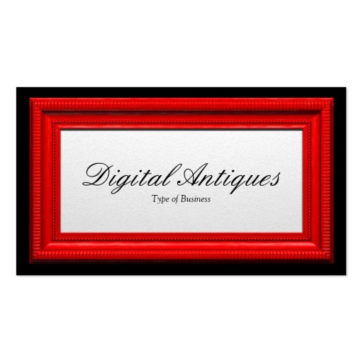 Moldura para retrato vermelha modelos cartoes de visita