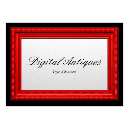 Moldura para retrato vermelha modelos cartoes de visitas