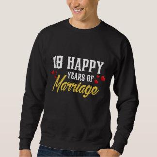Moletom 18o presente feliz do aniversário para a esposa do